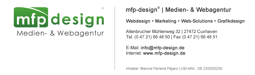 mfp-design® | Medien- & Webagentur [ Webdesign • Marketing • Web-Solutions • Grafikdesign ] - CUXHAVEN