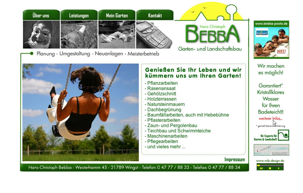 Webdesign Bebba Gartengestaltung - Cuxhaven Wingst