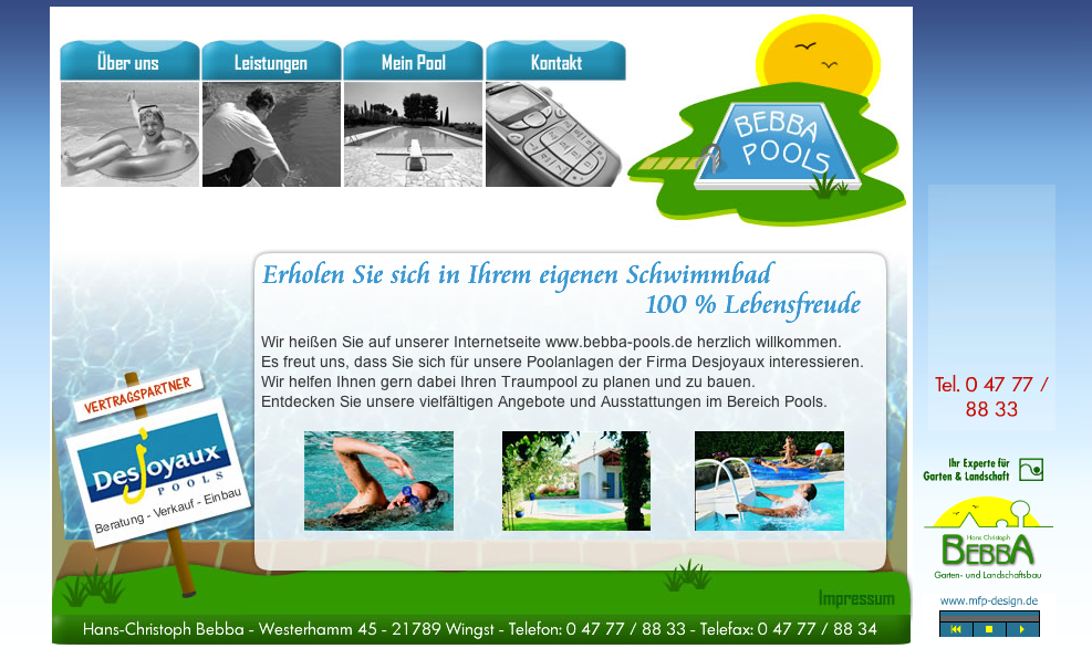 Webdesign Bebba Pools - Cuxhaven Wingst