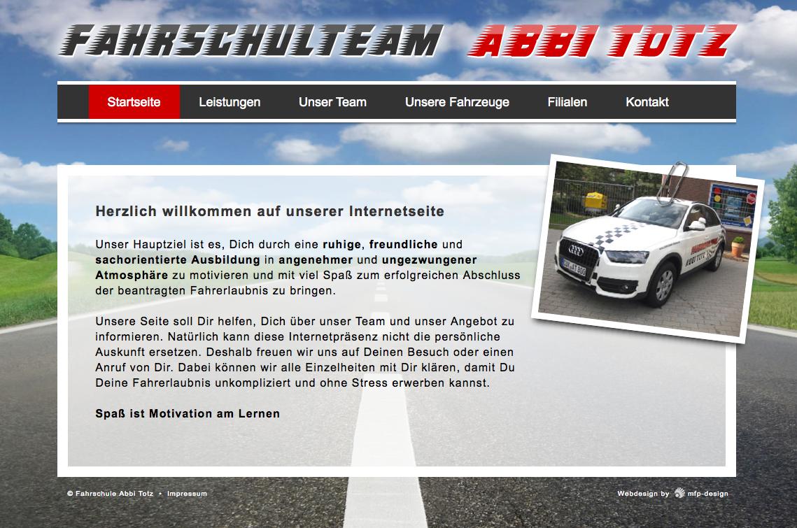 Webdesign Fahrschule Abbi Totz - Cuxhaven Döse