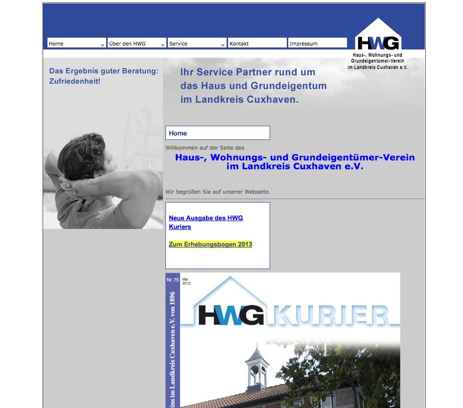 Webdesign HWG Cuxhaven eV - Cuxhaven