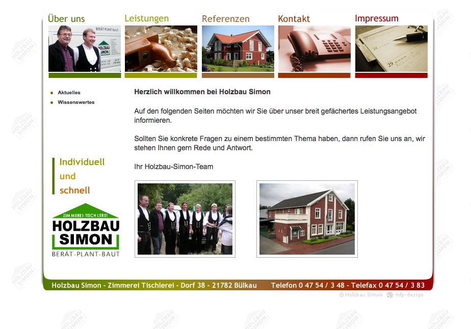 Webdesign Holzbau Simon - Cuxhaven Bülkau