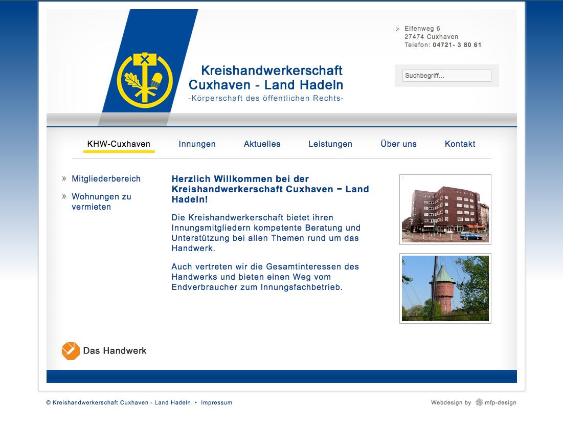 Webdesign Kreishandwerkerschaft Cuxhaven - Cuxhaven