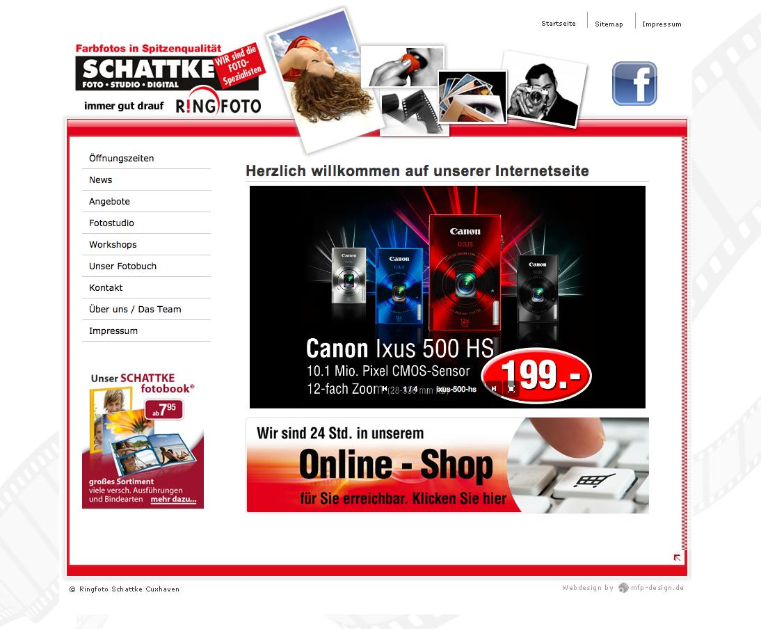 Webdesign Ringfoto Schattke - Cuxhaven