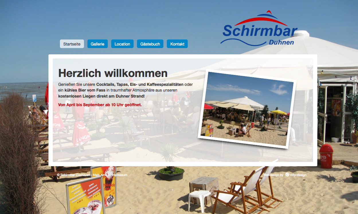 Webdesign Schirmbar Cuxhaven - Cuxhaven Duhnen