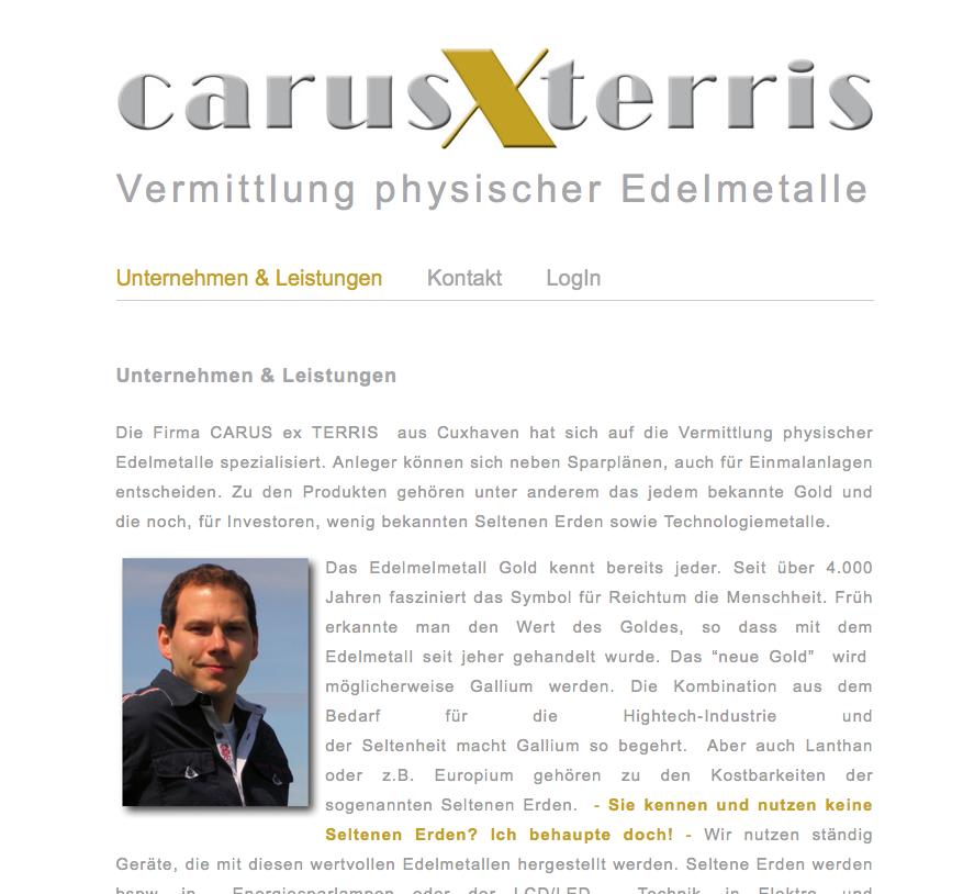 Webdesign carus x terris - David Staufenbiel - Cuxhaven Altenwalde