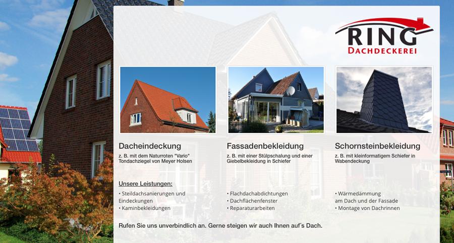 Webdesign Dachdeckermeister Stefan Ring - Cuxhaven