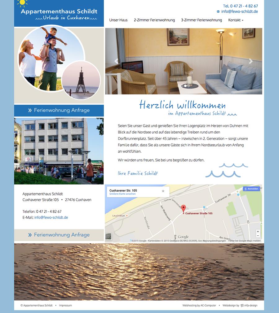 Appartementhaus Schildt - Webdesign Cuxhaven