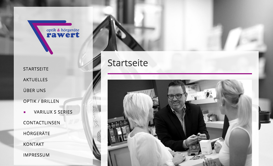 Webdesign Rawert Optik & Hörgeräte - Cuxhaven