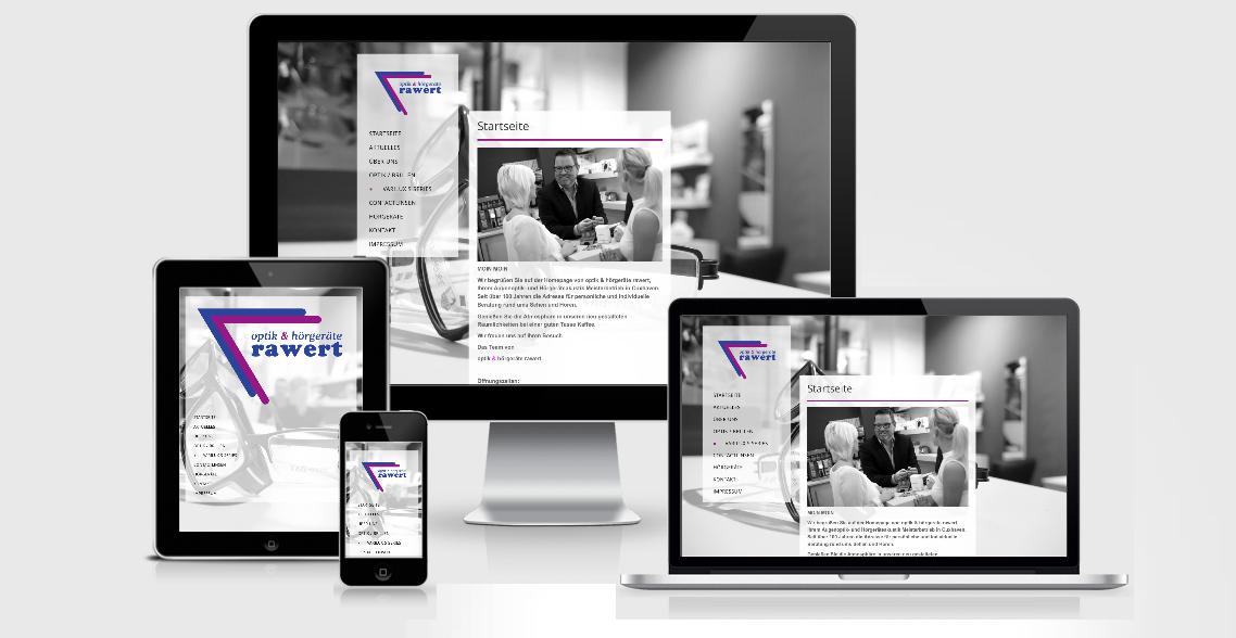 Rawert Optik & Hörgeräte - Webdesign Cuxhaven